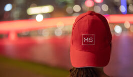 Supporter wearing MS Queensland cap