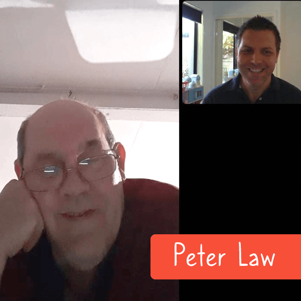 Peter Law with Tas on a telehealth call