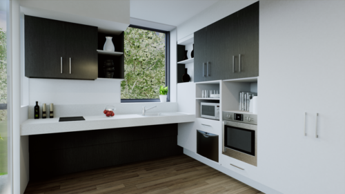 Fully accessible kitchen & appliances