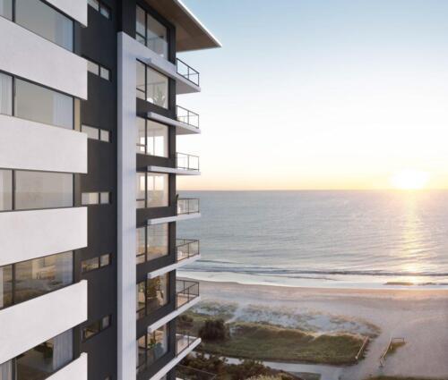 Apartments beachfront view